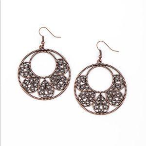 Petal Promenade copper earrings